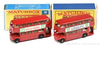 Matchbox Regular Wheels 2 x 5d London Routemaster Bus