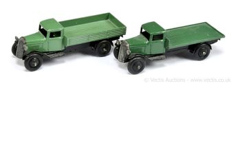 Dinky 25a (Type 3) Open Back Wagon - green cab and back