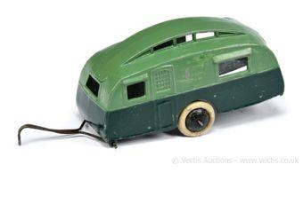 Dinky 30g Pre-war Caravan - two-tone green