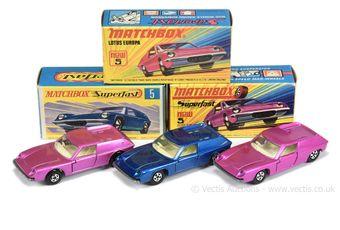 Matchbox Superfast 3 x 5a Lotus Europa