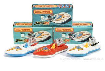 Matchbox Superfast 3 x 5b Seafire Power Boat