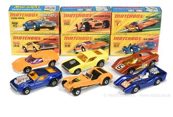 Matchbox Superfast group of early 1970's issue Cars