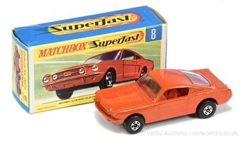 Matchbox Superfast 8a Ford Mustang - burnt orange body