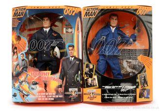 """Hasbro Action Man """"James Bond"""" a pair (1)"""