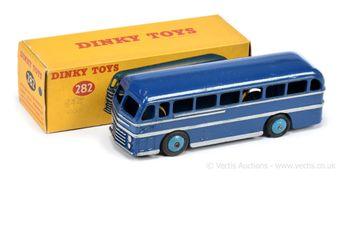 Dinky 282 Duple Roadmaster Coach - blue body