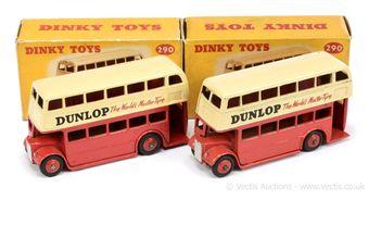 "Dinky 290 Double Decker Bus (Type 2) - ""Dunlop"""