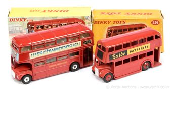 """Dinky 289 Routemaster Bus """"Schweppes"""" - red, silver trim"""