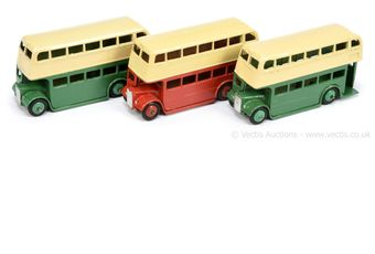 Dinky 29c/290 Double Decker Bus group of 3 (1) Type 3