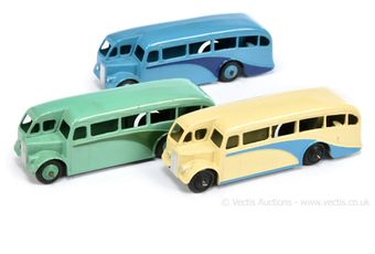 Dinky 29e Single Decker Bus group of 3 (1) cream