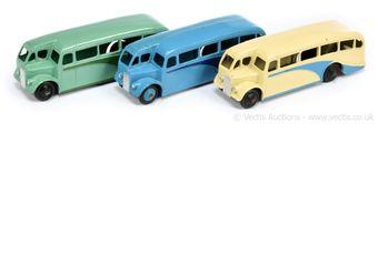 Dinky 29e Single Decker Bus group of 3 - (1) cream
