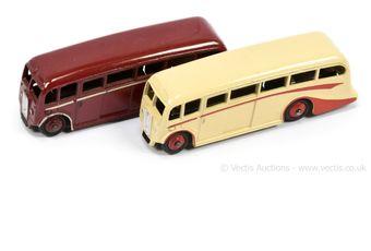 Dinky 29g/281 Luxury Coach a pair (1) dark red