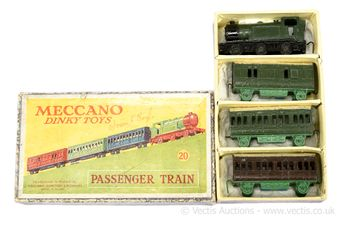 Dinky Pre-war 20 Passenger Train Set to include dark green and
