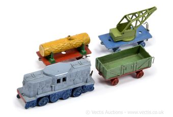 French Dinky Pre-war 17 Electric Goods Train Set to include Locomotive