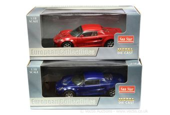 Sun Star 1/18th scale pair (1) 1031 Lotus Elise 111S