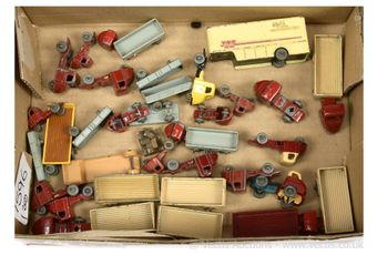 Matchbox Lesney Regular Wheels unboxed group 7 x 10a Scammell
