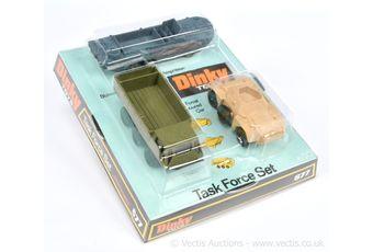 Dinky 677 Task Force Gift Set containing Desert Sand Ferret Armoured