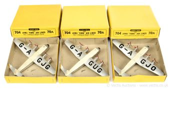 Dinky 3 x 70a/704 Avro York Airliner
