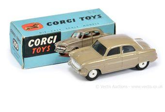 Corgi 200 Ford Consul Saloon - fawn body, flat spun hubs