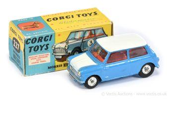 Corgi 227 Morris Mini Cooper Competition - mid-blue body