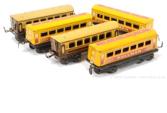 Mettoy Playthings a group of 8-wheeled Bogie Coaches