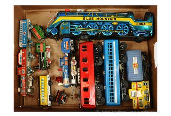 Assorted Japanese tinplate Trains