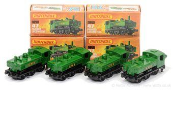 Matchbox 75 Series a group of 47 Pannier Tank Locomotives