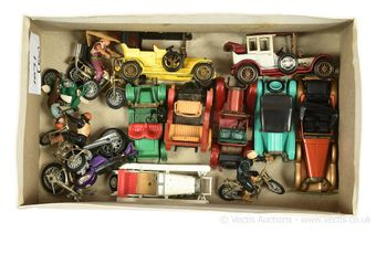 Britains Motorcycles and Matchbox Yesteryear Cars