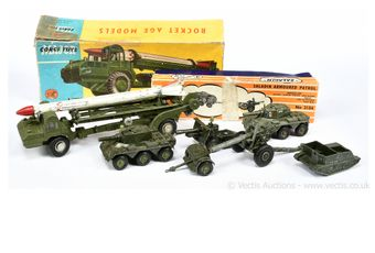 Corgi Toys and Crescent boxed and unboxed Military vehicles -