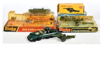 Dinky Toys a group of boxed Military Vehicles