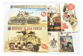 Airfix a group of Military vehicles and Historical Figures -