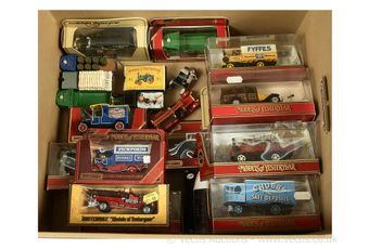 Matchbox Models of Yesteryear a group of boxed and unboxed models