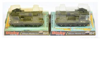 Dinky pair of 654 US Army 155mm Mobile Gun