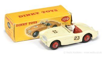 Dinky Toys 109 Austin Healey 100 - cream