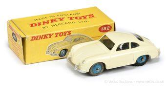 Dinky Toys 182 Porsche 356A Coupe - cream