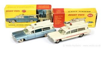 Dinky Toys a pair of boxed Superior Criterion Ambulance