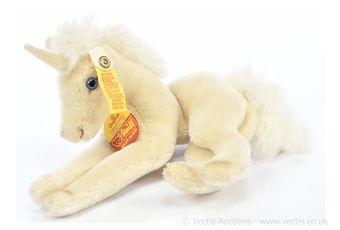 Steiff Original unicorn, yellow tag 0130/17 (1983-1984)