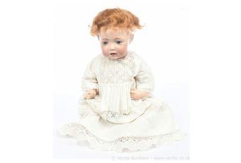 JD Kestner jnr Hilda bisque rare character doll, German