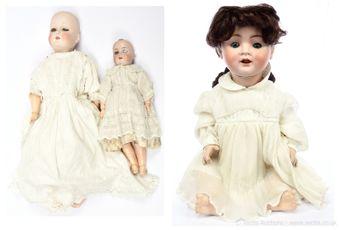 German bisque dolls x three: