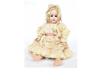 Simon & Halbig bisque doll, German, c1900, impressed 62