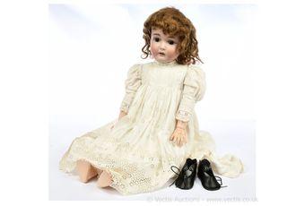 JD Kestner jnr bisque doll, German, c1900