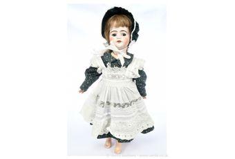 SFBJ DEP bisque walking doll, French, c1900