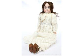 JD Kestner shoulder head bisque doll, German, c1897