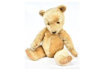 Chiltern Hug-Mee blonde mohair vintage teddy bear, British