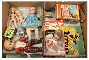Collection of Palitoy vintage and dolls and toys, etc