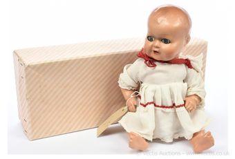 Palitoy Plastex composition vintage baby doll, British
