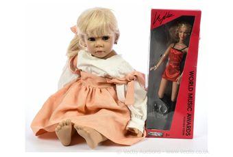 Pair of vinyl dolls: (1) Gotz vinyl doll