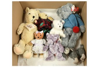 Collection of modern issue teddy bears