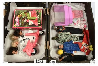Action Man, Barbie, and Sindy, some vintage: