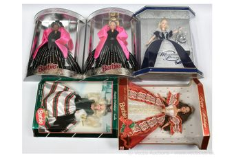 Mattel Barbie Happy Holidays dolls: (1) 1994, #13545;