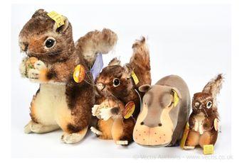 Steiff four vintage animals: (1) -